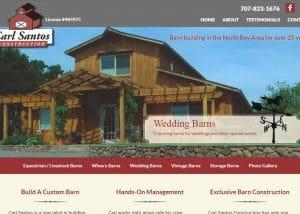 Barn Construction Web Design