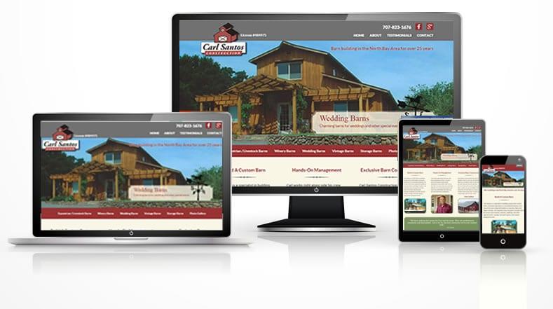 Carl Santos Construction responsive WordPress website