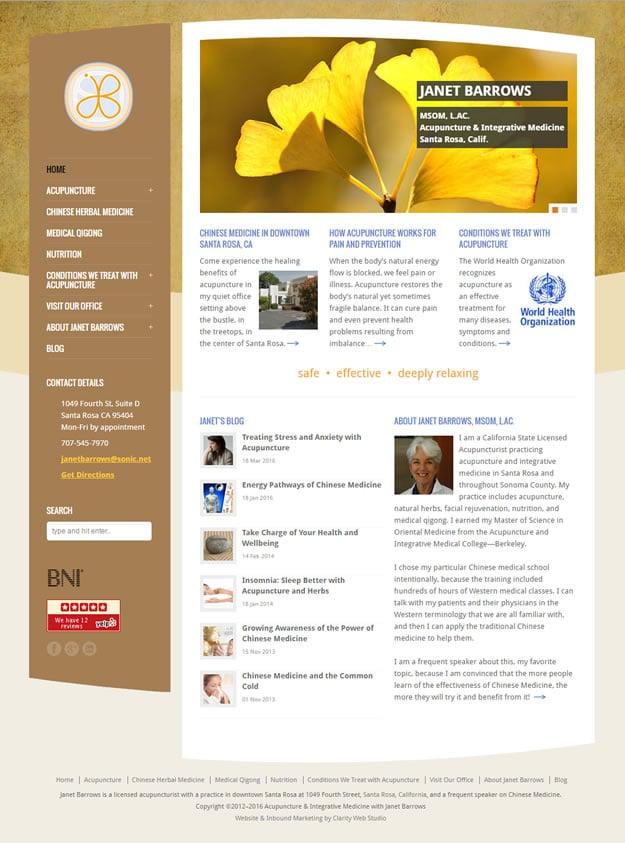 Acupuncture & Integrative Medicine Santa Rosa home page