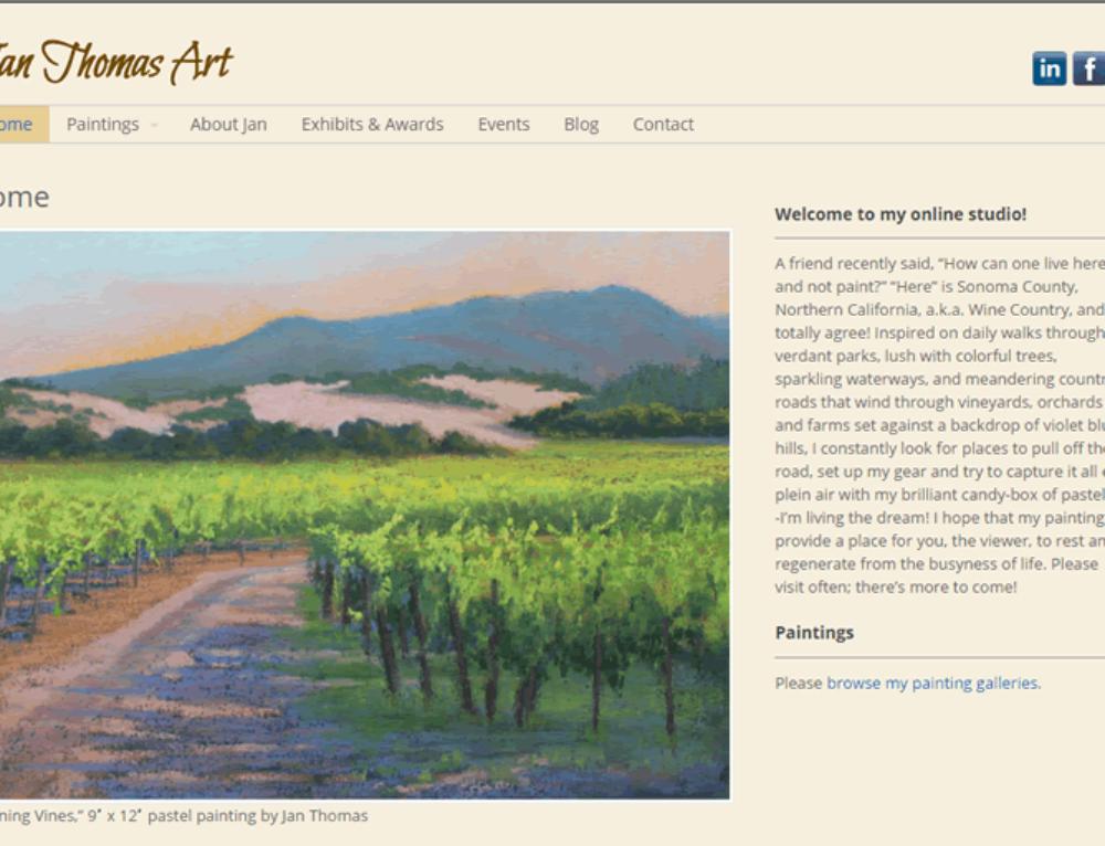 Studio Artist Web Design