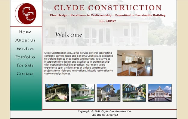old style construction website