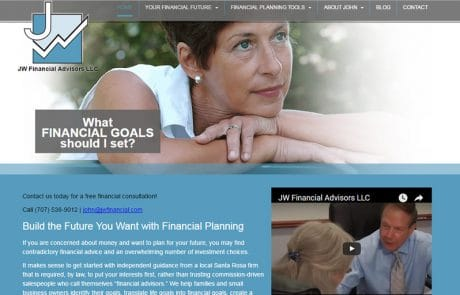 Certified Financial Planner Web Design