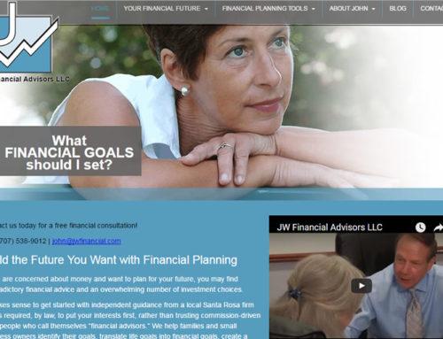 Financial Planner Web Design