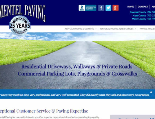 Paving Contractor Web Design