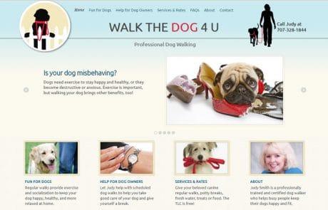 Dog Walker Web Design