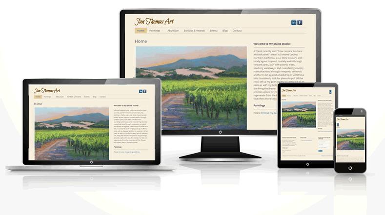 studio artist responsive web design