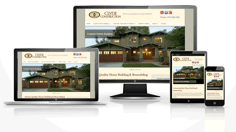 Construction company responsive web design