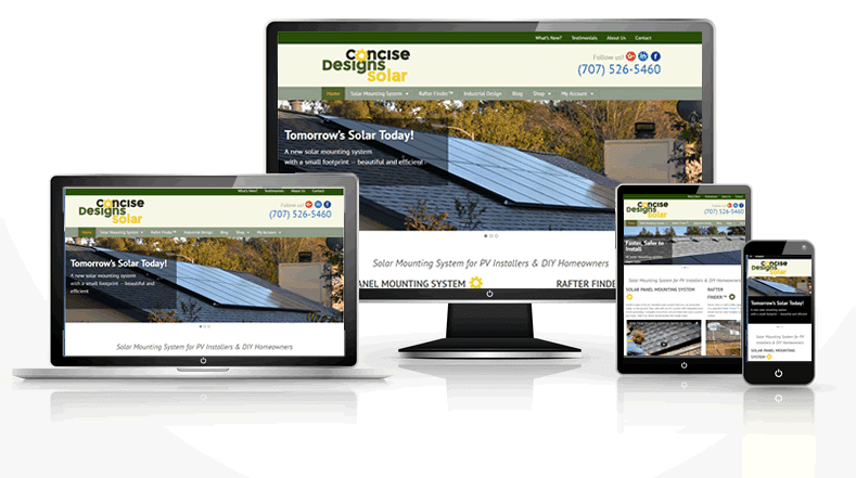 Responsive solar web design