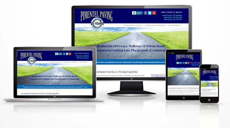 Responsive paving company web design