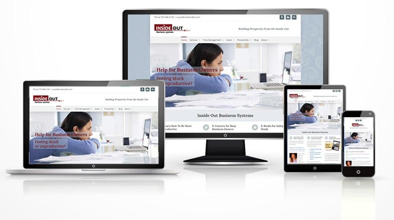 Responsive business coach web design