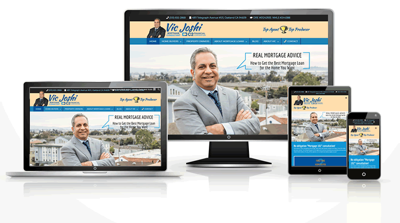 Mortgage consultant web design