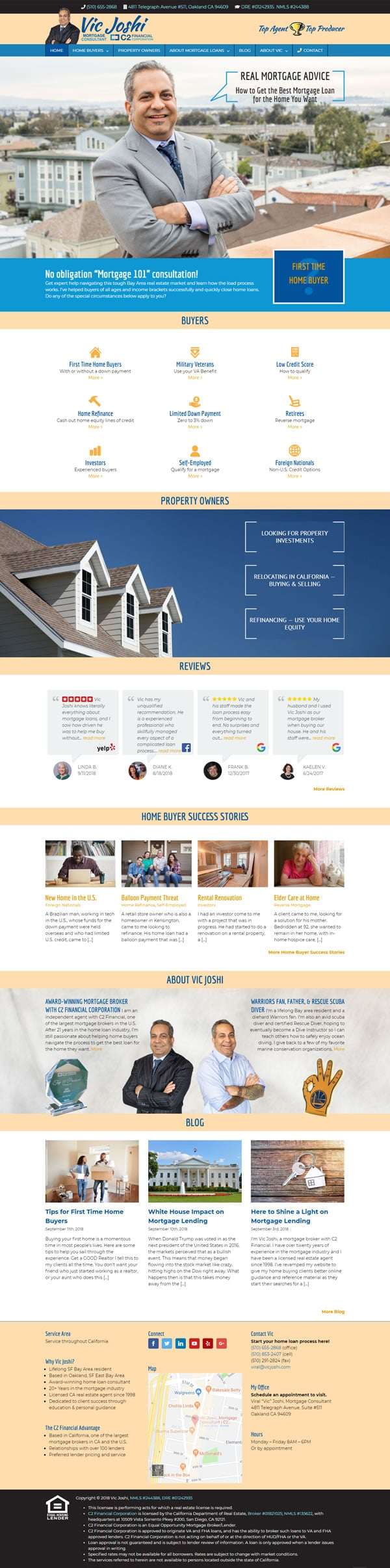 mortgage consultant wesite after redesign