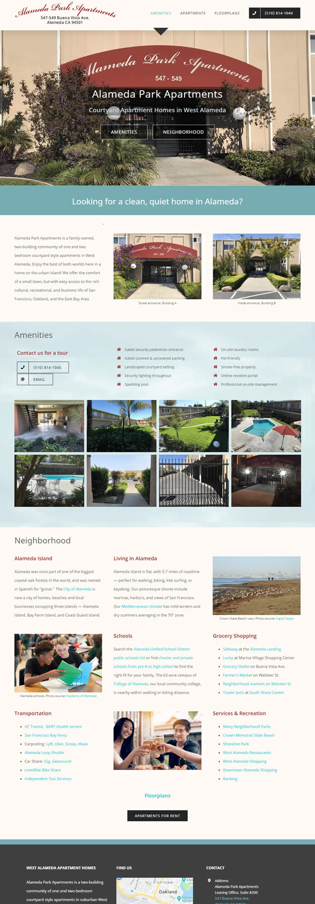 Alameda Park Apartments home page