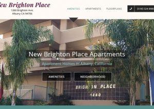 Apartment complex web design, New Brighton Place