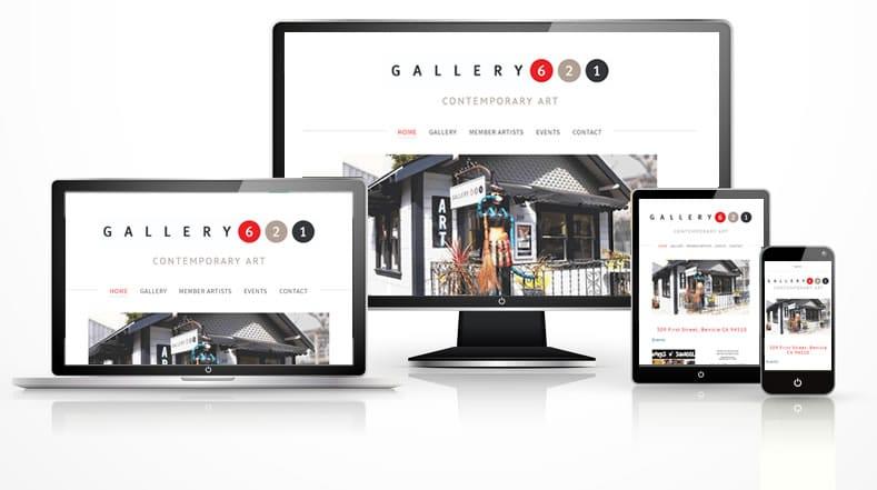 Portfolio art gallery responsive web design