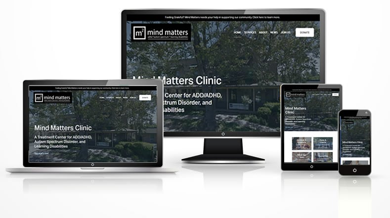 Disorder Treatment Center web design