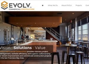 commercial construction company web design
