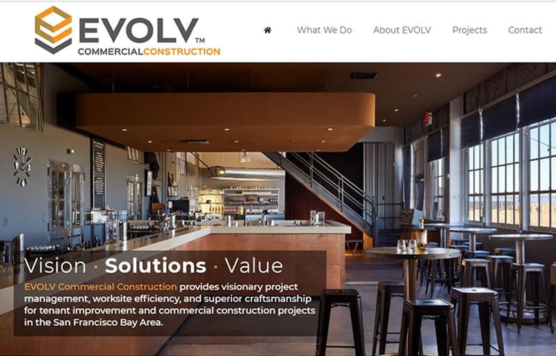 Commercial Construction Web Design Web Design Seo Sf Bay Area
