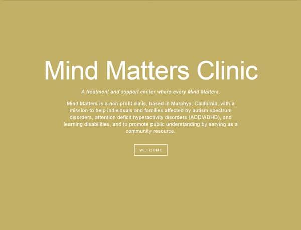 Treatment center website before redesign