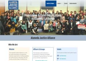 Political advocacy group web design