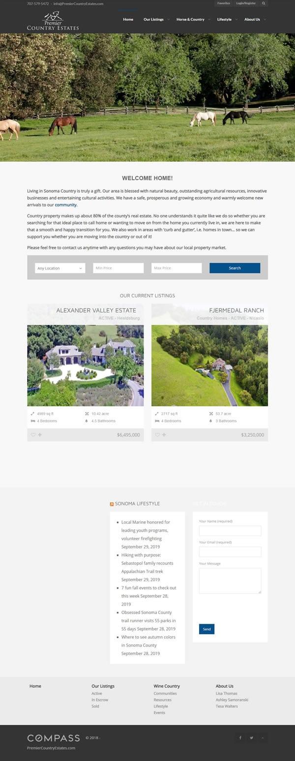 Real estate web design before